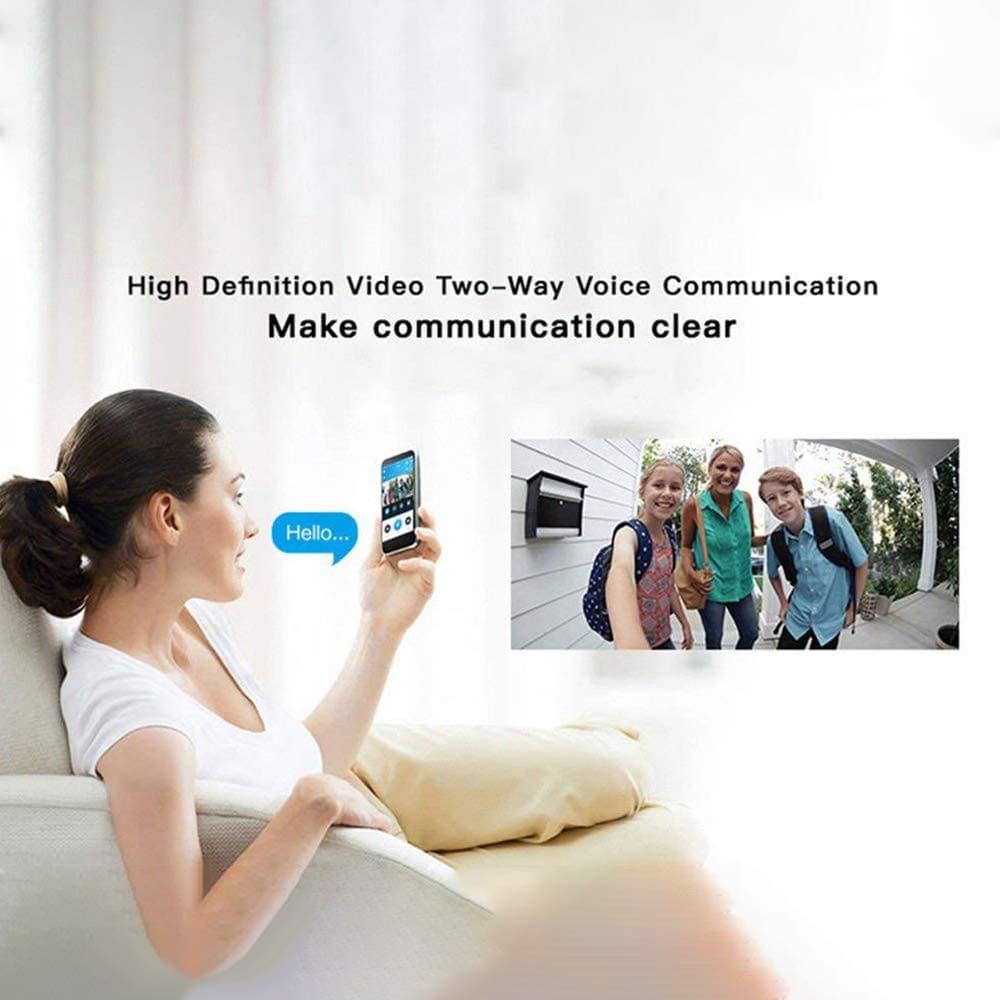 WiFi DoorBell Smart Video Phone Door Visual Ring Intercom Secure Camera- Black