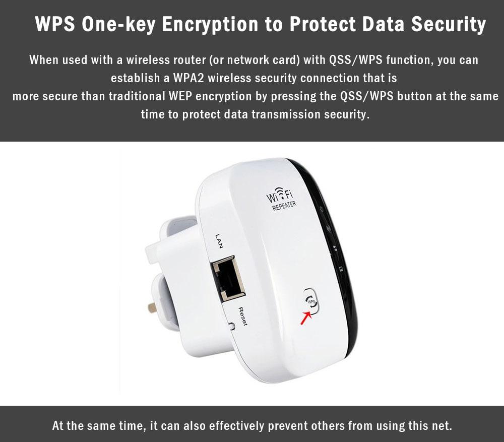 WL - WNN522N2 300Mbps tartományú extender router extender WiFi ismétlődő - fehér EU dugó