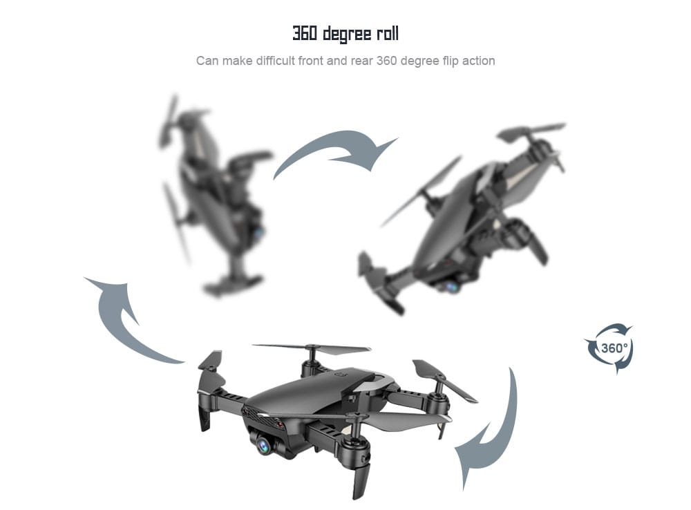 X12S 1080P WiFi Dual Camera Optical Flow Fixed Height Four-axis Aircraft RC Drone- Black 1080P