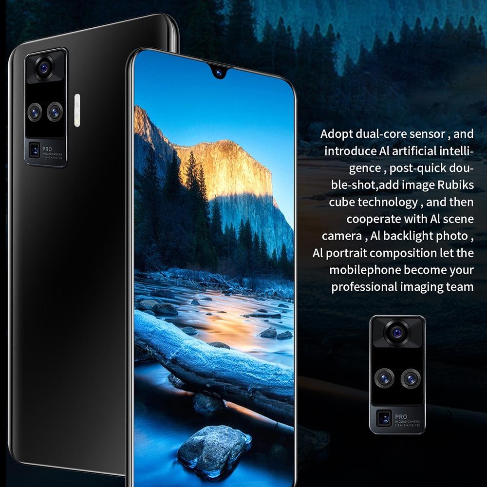 X60 Pro okostelefon - világoskék amerikai dugó (2 tűs)