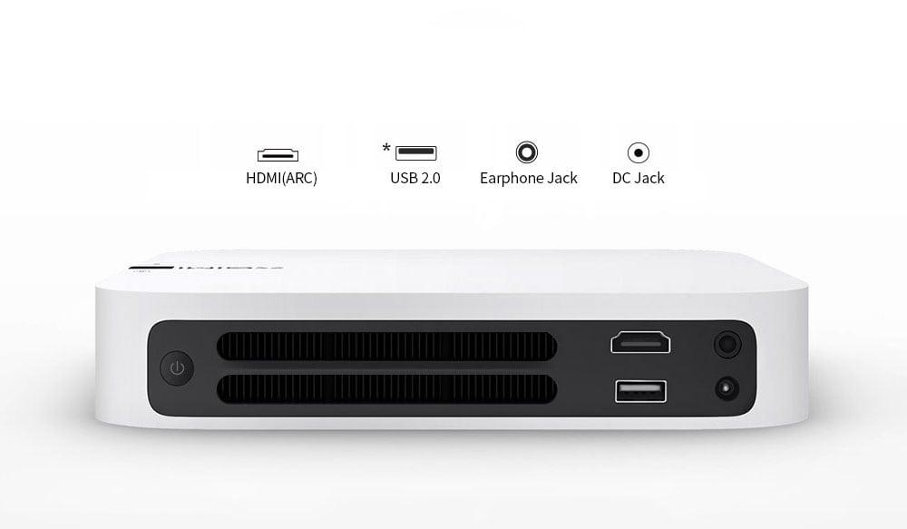 XGIMI Z6 700 Ansi lumen DLP projektor házimozi 1080p Full HD támogatás 3D WiFi tükörképernyő - fehér
