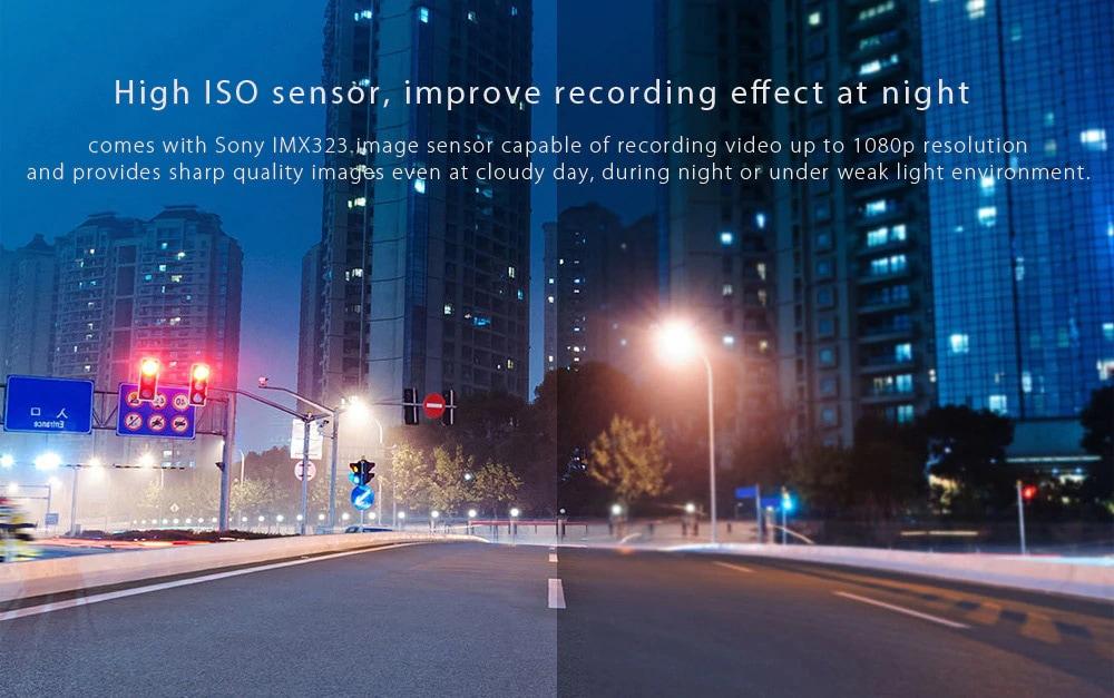Xiaomi 70mai Dash Cam Smart WiFi autós DVR orosz változat 1080P 130 fokos széles szög - fekete