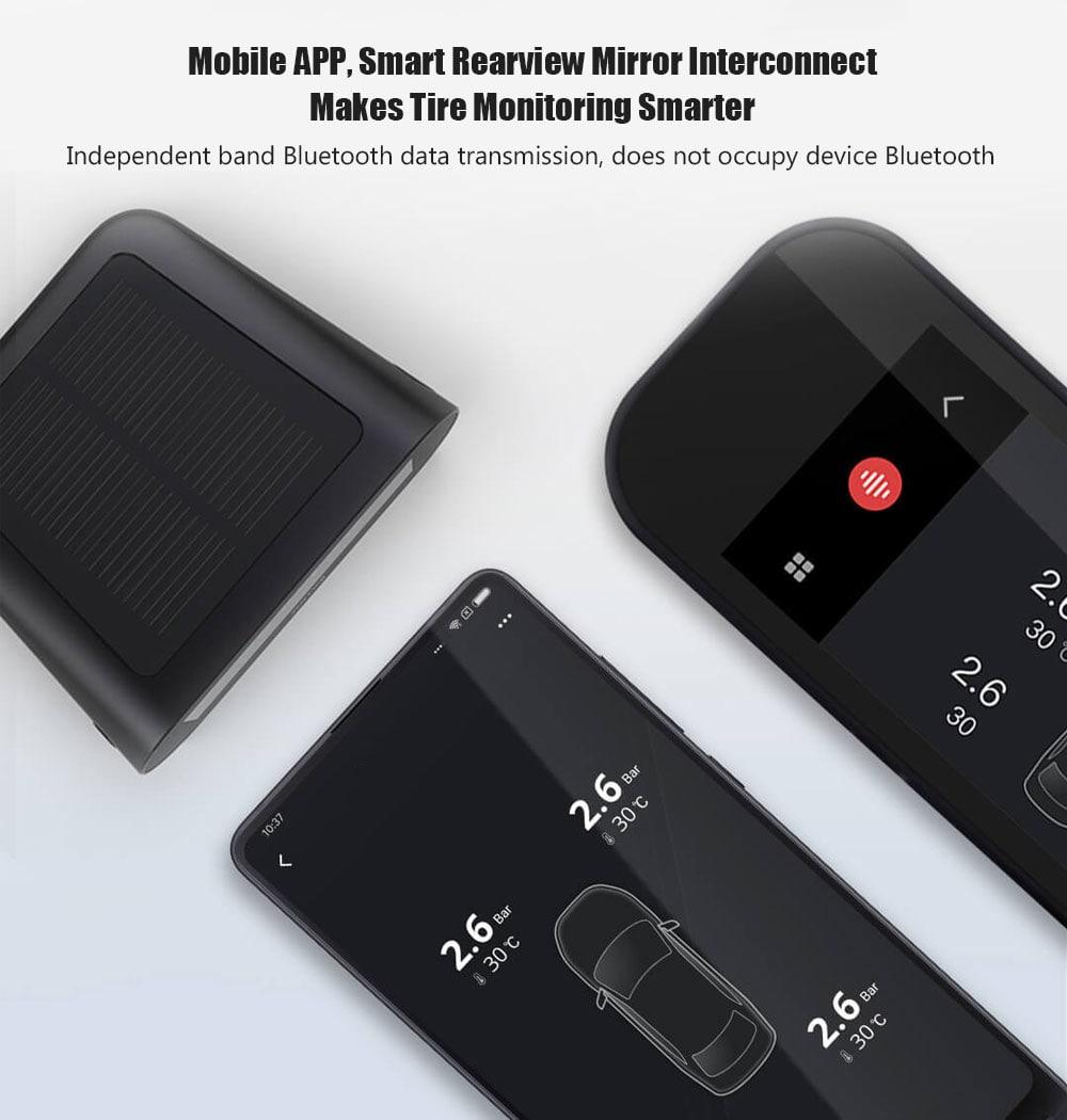 Xiaomi 70mai kettős töltésű TPMS gumiabroncsnyomás-monitor rendszer vezeték nélküli kettős színkijelző 4 belső érzékelővel - fekete