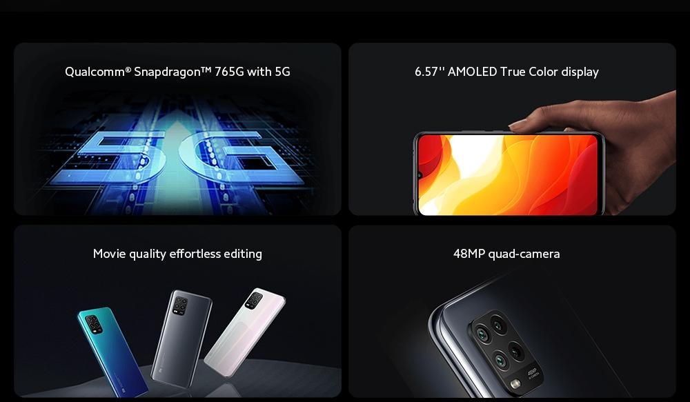 Xiaomi Mi 10 Lite 5G Smartphone functions