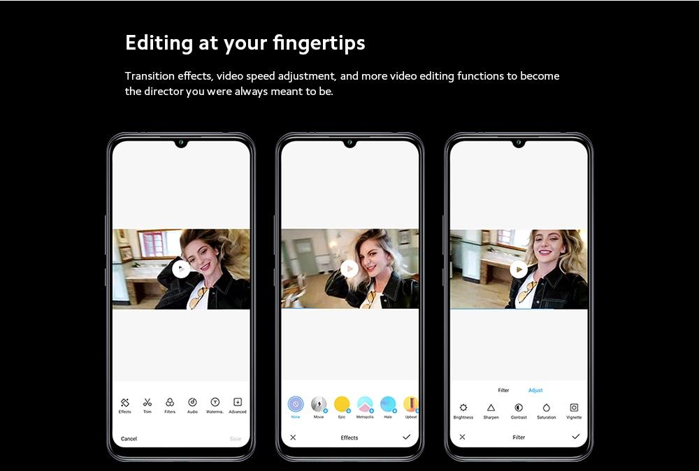 Xiaomi Mi 10 Lite 5G Smartphone Editing at your fingertips
