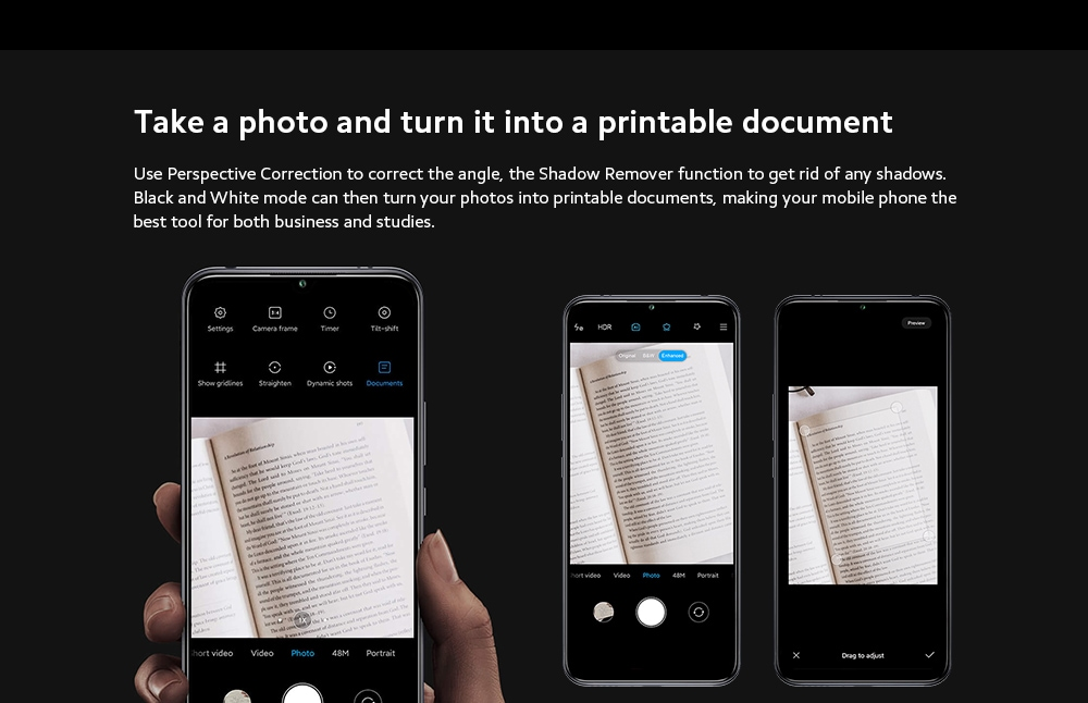 Xiaomi Mi 10 Lite 5G Smartphone Take a photo and turn it into a printable document