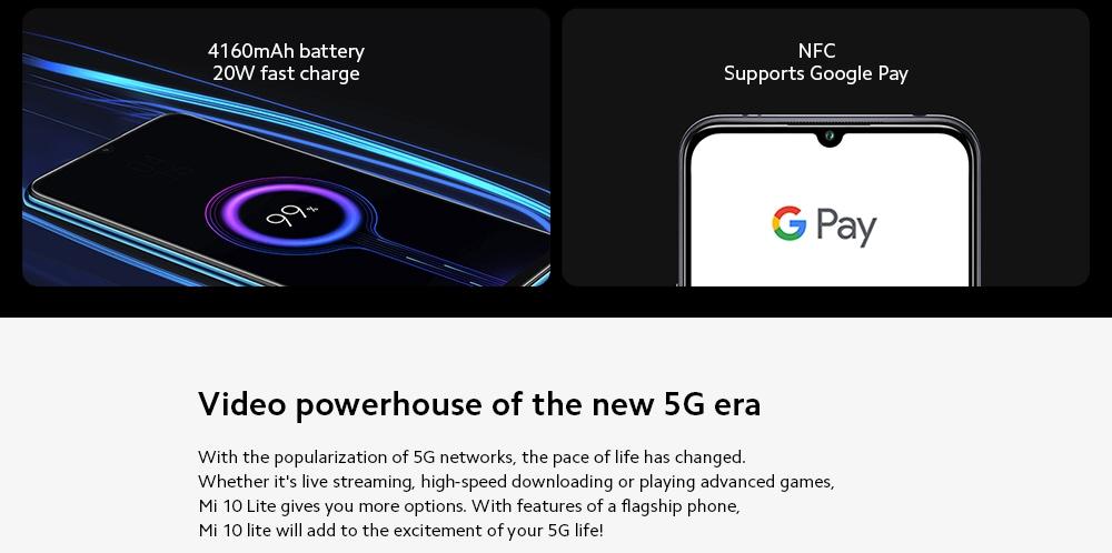 Xiaomi Mi 10 Lite 5G Smartphone Video powerhouse of the new 5G era