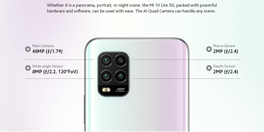 Xiaomi Mi 10 Lite 5G Smartphone The world is in your hands