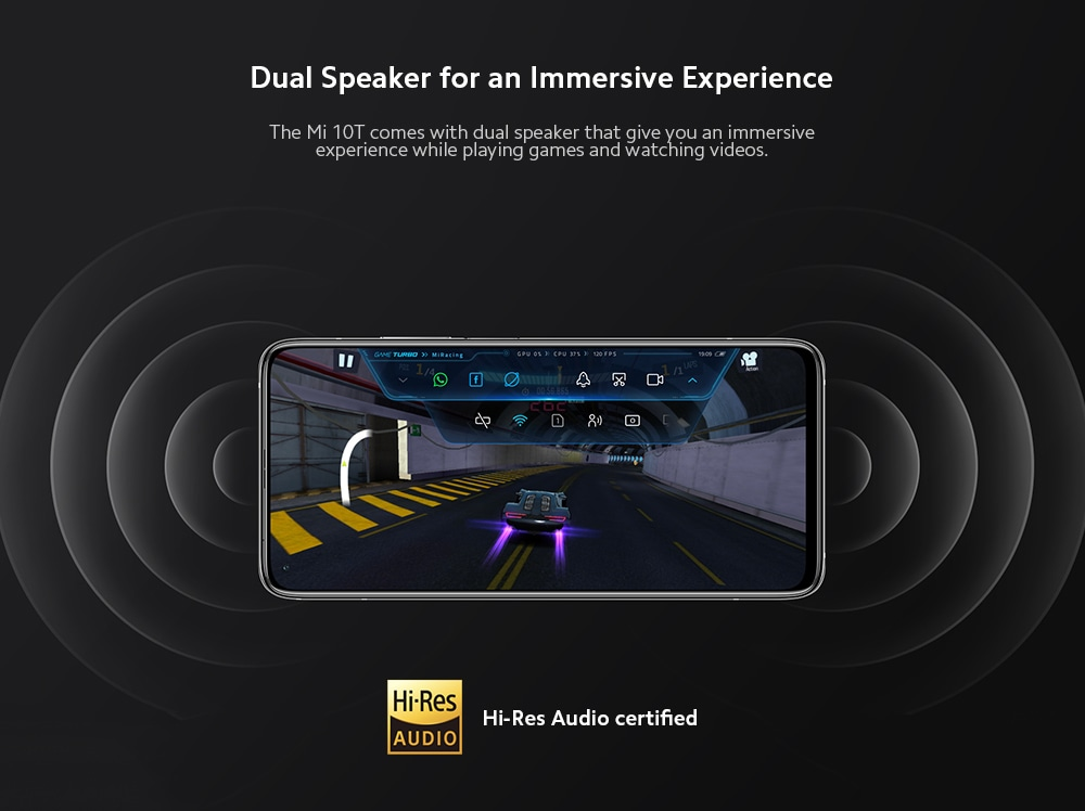 Xiaomi Mi 10T 5G Smartphone Dual Speaker