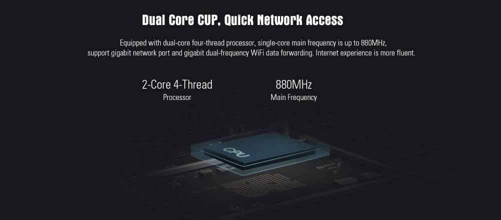 Xiaomi Mi 4A router Gigabit Edition 2.4GHz + 5 GHz WiFi 16MB ROM + 128MB DDR3 nagy nyereség 4 antenna távirányító APP vezérlő támogatás IPv6 - fehér