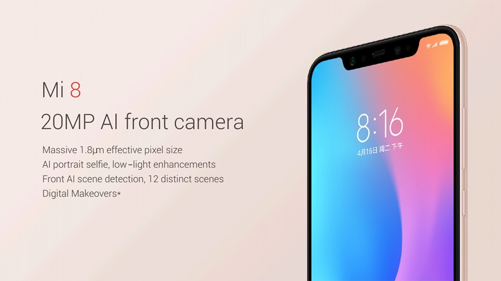 Xiaomi Mi 8 4G okostelefon