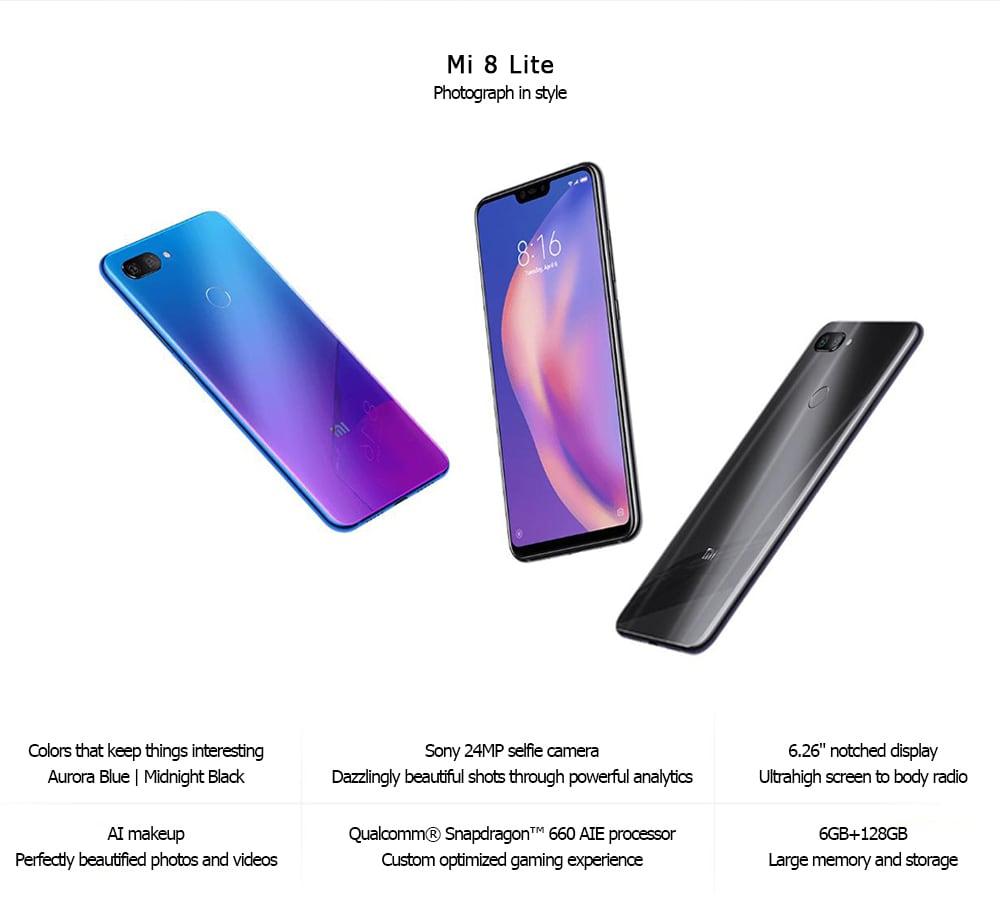 Xiaomi Mi 8 Lite 4G okostelefon