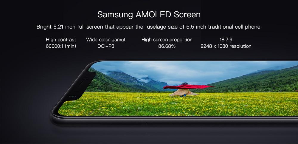 6GB RAM 64GB ROM 20.0MP Front Camera Fingerprint Sensor- Black