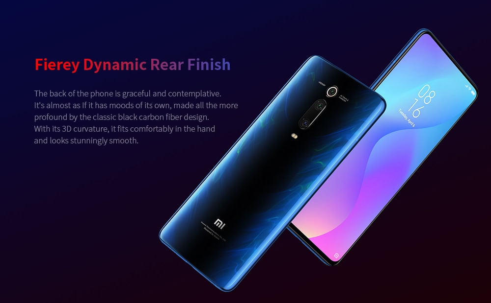Xiaomi Mi 9T 4G Phablet 6.39 inch Snapdragon 730 Octa Core 6GB RAM 128GB ROM 48.0MP + 13.0MP + 8.0MP Rear Camera 4000mAh Battery- Blue
