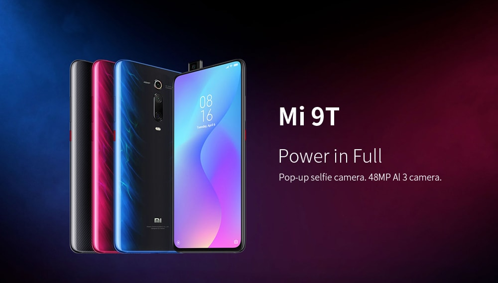 Xiaomi Mi 9T 4G Phablet 6.39 inch Snapdragon 730 Octa Core 6GB RAM 64GB ROM 48.0MP + 13.0MP + 8.0MP Rear Camera 4000mAh Battery- Blue