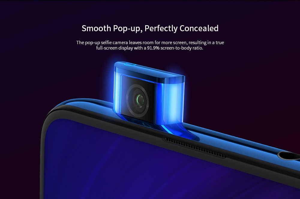 Xiaomi Mi 9T Pro 4G Phablet 6.39 inch MIUI 10 Snapdragon 855 Octa Core 2.84GHz + 2.42GHz + 1.80GHz 6GB RAM 64GB ROM 48.0MP + 13.0MP + 8.0MP Rear Camera 4000mAh Battery- Blue