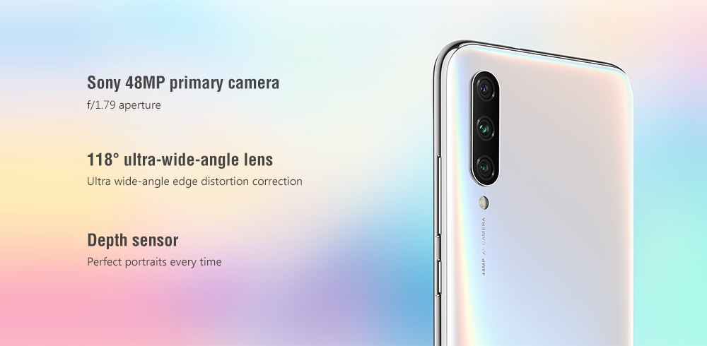Xiaomi Mi A3 4G Phablet 6.088 inch Android One Snapdragon 665 Octa Core 4GB RAM 64GB ROM 48.0MP + 8.0MP + 2.0MP Rear Camera 4030mAh Battery- Gray