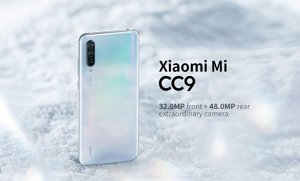 Xiaomi Mi CC9 4G Phablet 6,39 hüvelykes Snapdragon 710 Octa Core 6 GB RAM 128GB ROM 48.0MP + 8.0MP + 2.0MP hátsó kamera 4030mAh akkumulátor- kristálykrém