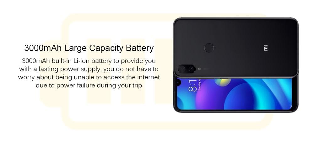Xiaomi Mi Play 4G Phablet 5.84 inch MIUI 9 Helio P35 Octa Core 2.3GHz 4GB RAM 64GB ROM 12.0MP + 12.0MP Rear Camera Fingerprint Sensor Face ID 3000mAh ( typ ) / 2900mAh ( min ) Built-in- Black
