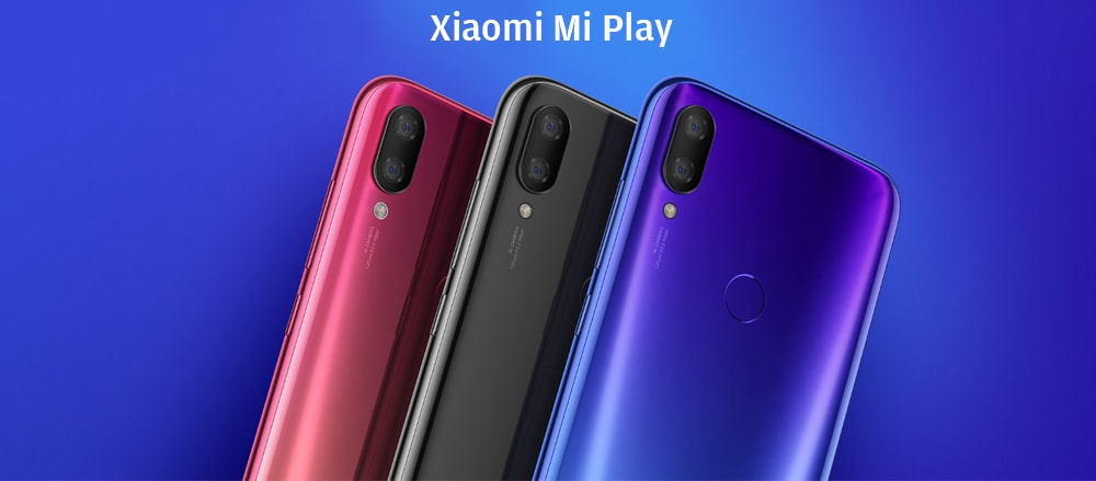 Xiaomi Mi Play 4G Phablet 5.84 inch Android 8.1 OS Helio P35 Octa-core 2.3GHz 4GB RAM 64GB ROM 12.0MP + 2.0MP Rear Camera Fingerprint Sensor Dual Band 3000mAh Built-in- Blue
