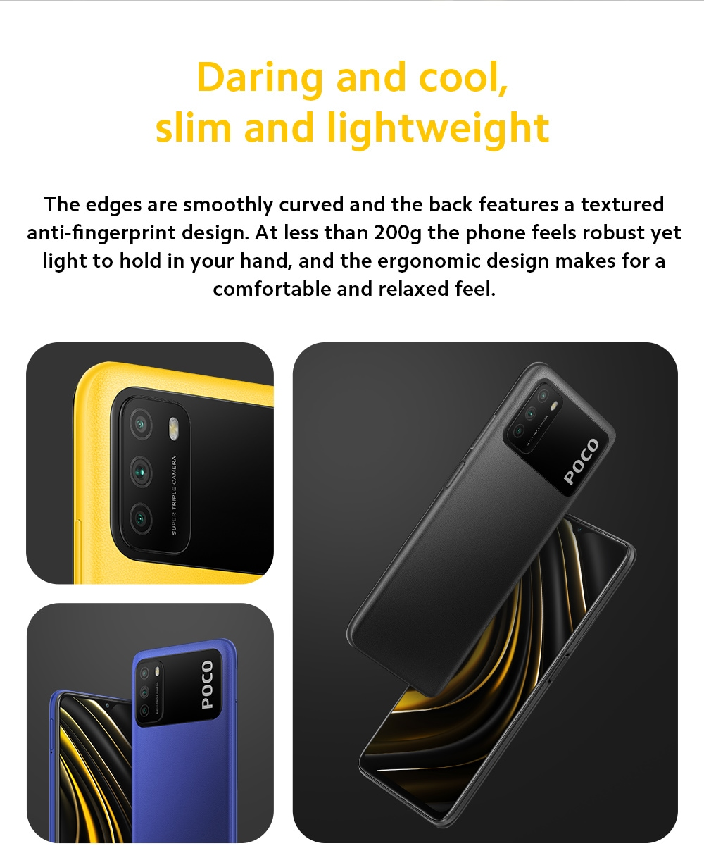 Xiaomi Poco M3 4G Smart Phone Size