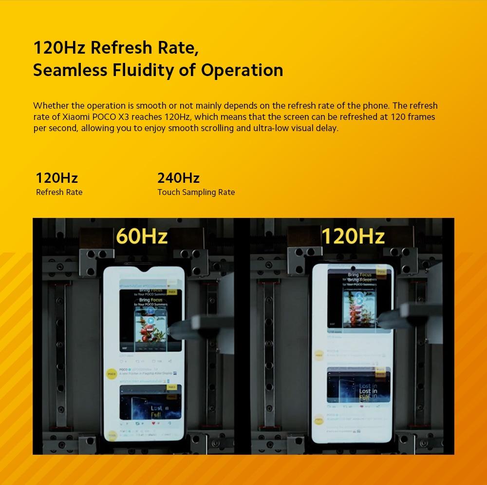 Xiaomi POCO X3 4G Smartphone Refresh Rate