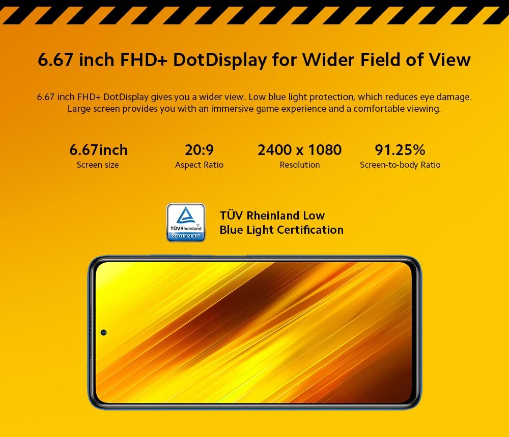 Xiaomi POCO X3 4G Smartphone HD Display