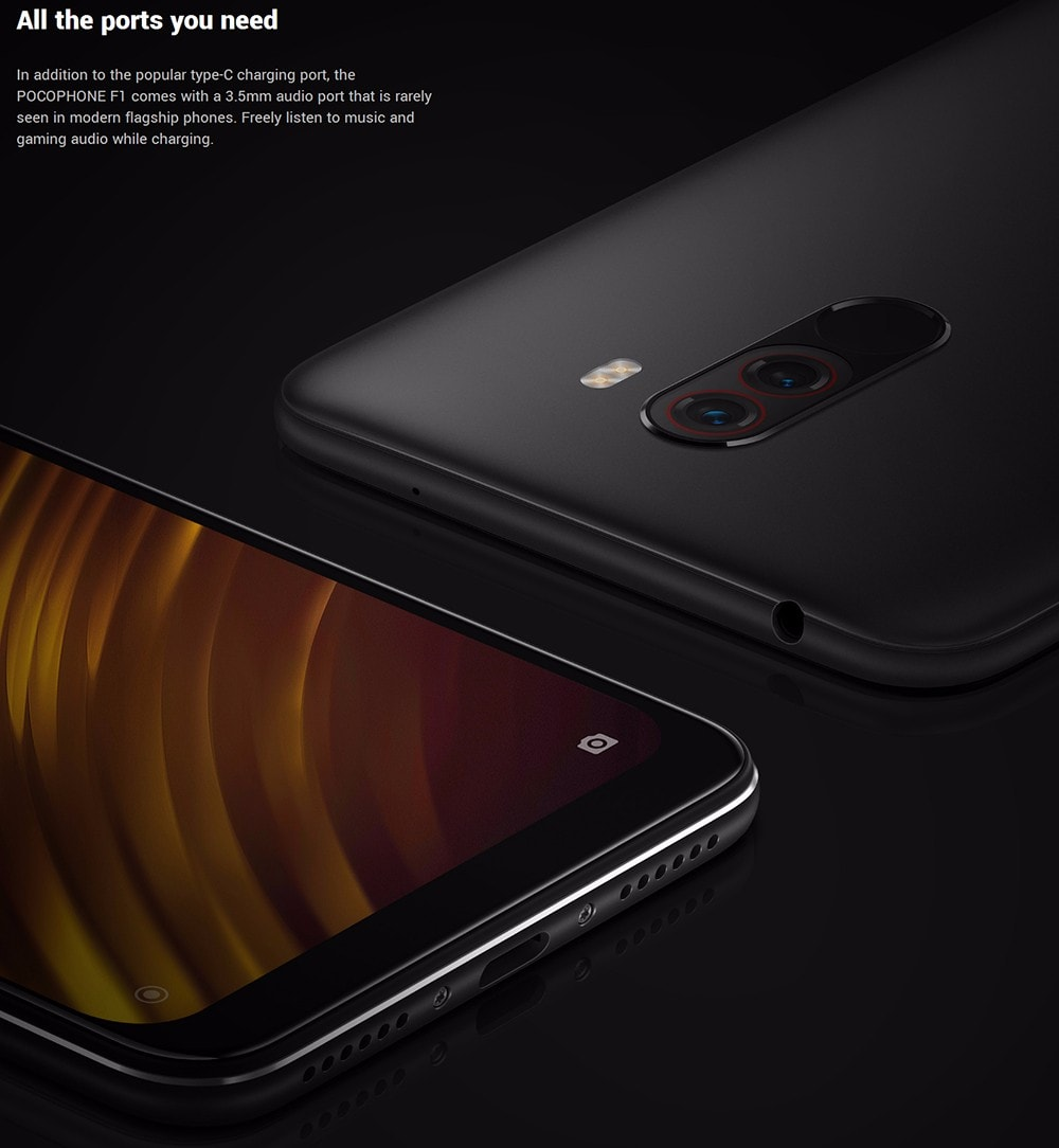 Xiaomi Pocophone F1 4G Phablet 6.18 inch Android 8.1 Snapdragon 845 Octa Core 2.8GHz 6GB RAM 128GB ROM 20.0MP Front Camera Fingerprint Sensor- Slate Blue 6+128GB