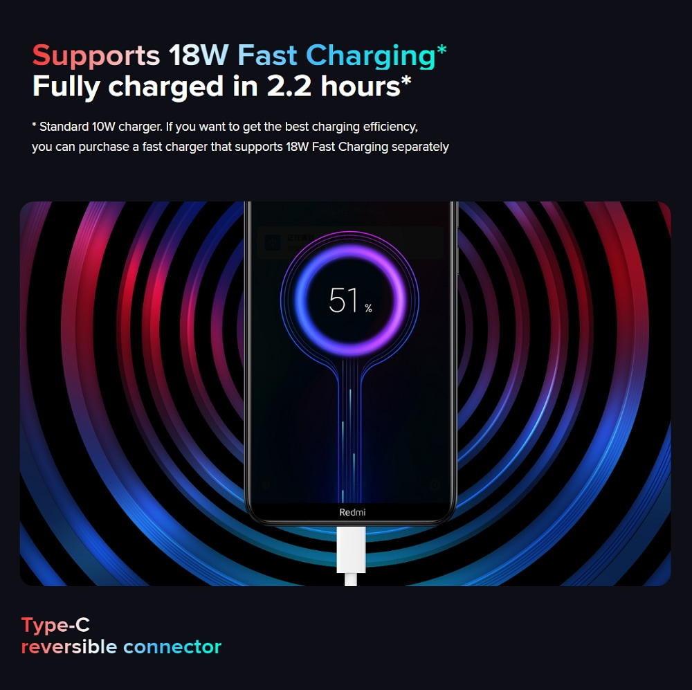 Xiaomi Redmi 8 3+32GB Onyx Black EU- Black 3+32GB