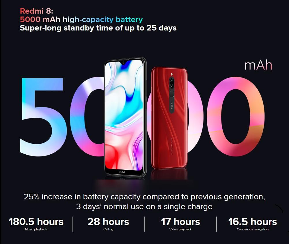 Xiaomi Redmi 8 4+64GB Onyx Black EU- Black 4+64GB