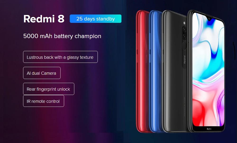 Xiaomi Redmi 8 4+64GB Sapphire Blue EU- Blue 4+64GB