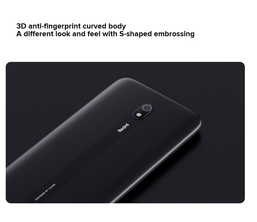 Xiaomi Redmi 8A 2+32GB Midnight Black EU- Black EU Plug