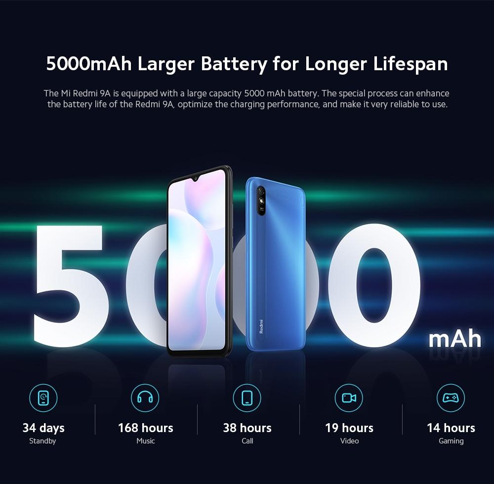 Xiaomi Redmi 9A 4G Smartphone Battery Life