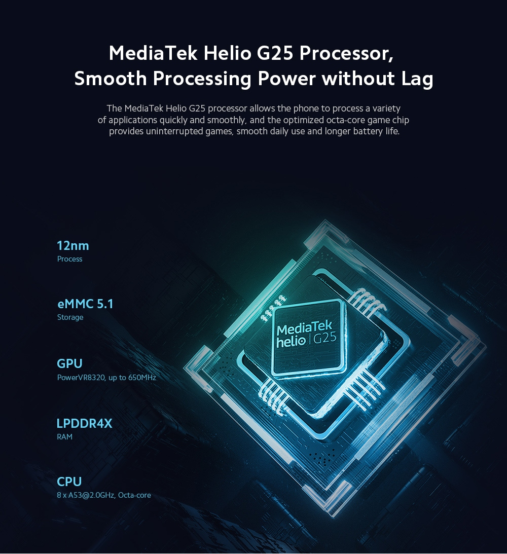 Xiaomi Redmi 9A 4G Smartphone CPU