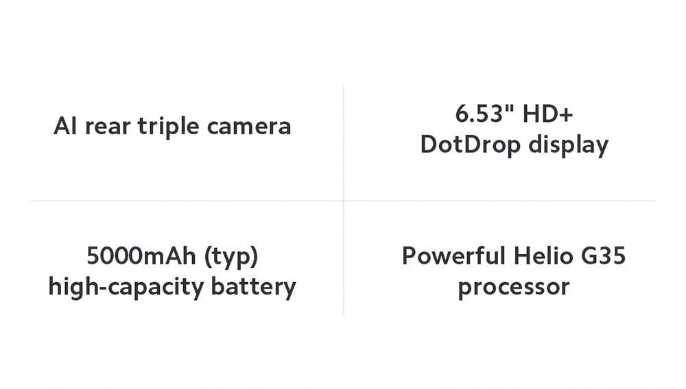 Xiaomi Redmi 9C 4G Smartphone Main Features
