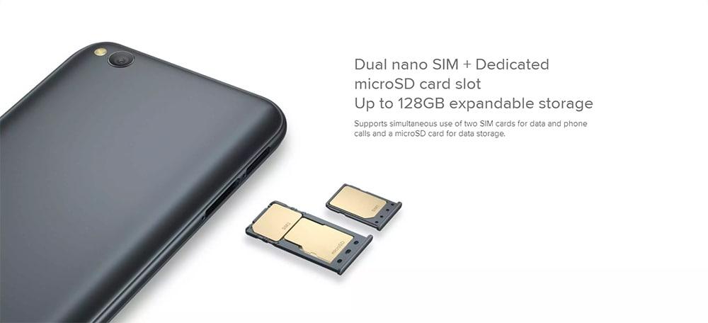 Xiaomi Redmi Go 4G Smartphone 5.0 inch Android Go OS Snapdragon 425 Quad core 1.4GHz 1GB RAM 8GB ROM 8.0MP Rear Camera 5.0MP Front Camera 3000mAh Built-in- Black