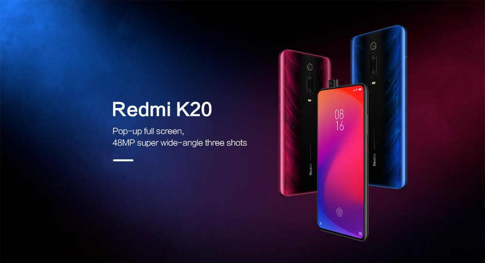 Xiaomi Redmi K20 4G Phablet 6.39 inch MIUI 10 Snapdragon 730 Octa Core 2.2GHz 6GB RAM 128GB ROM 48.0MP + 13.0MP + 8.0MP Rear Camera 4000mAh Battery- Blue