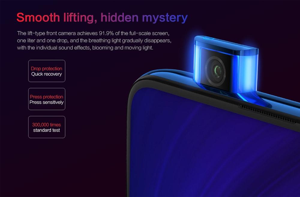 Xiaomi Redmi K20 4G Phablet 6.39 inch MIUI 10 Snapdragon 730 Octa Core 2.2GHz 8GB RAM 256GB ROM 48.0MP + 13.0MP + 8.0MP Rear Camera 4000mAh Battery- Blue
