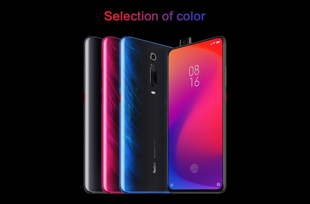 Xiaomi Redmi K20 4G Phablet 6.39 inch MIUI 10 Snapdragon 730 Octa Core 2.2GHz 8GB RAM 256GB ROM 48.0MP + 13.0MP + 8.0MP Rear Camera 4000mAh Battery- Red