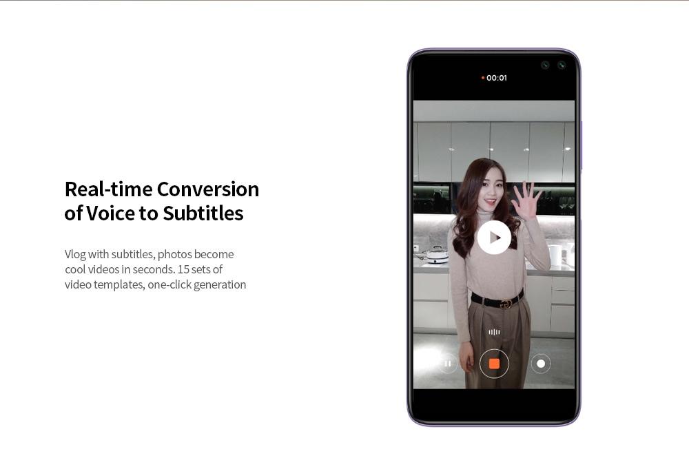 Xiaomi Redmi K30 4G Smartphone 6.67 inch MIUI 11 Snapdragon 730G- Purple 8GB+256GB
