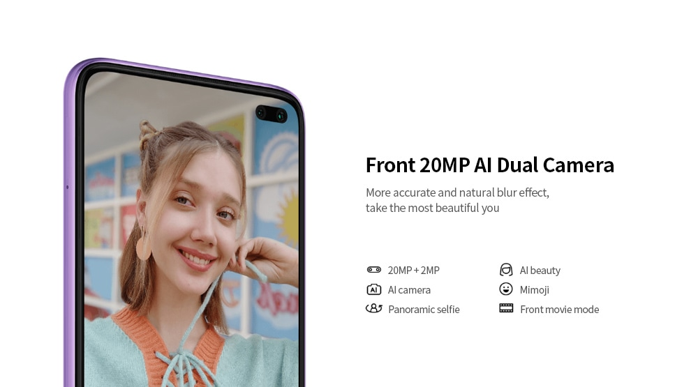 Xiaomi Redmi K30 4G Smartphone 6.67 inch MIUI 11 Snapdragon 730G- Purple 6GB+128GB