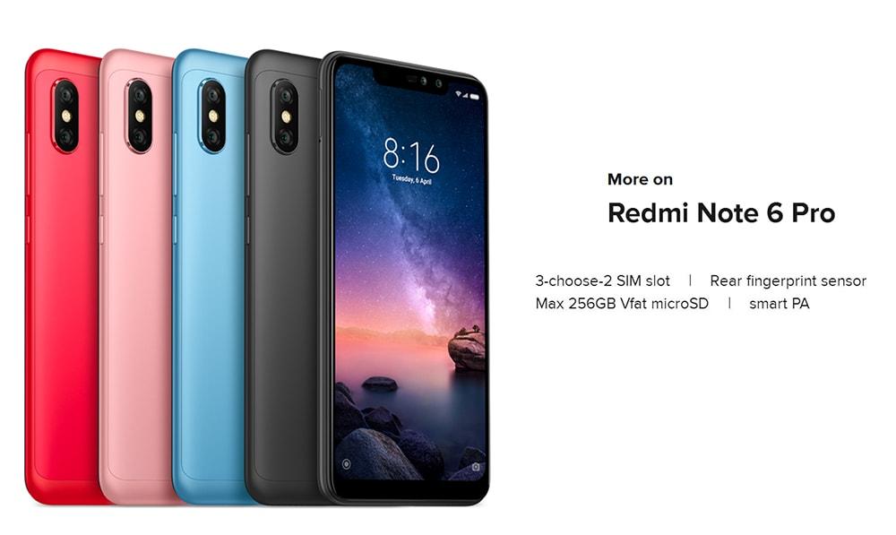 Xiaomi Redmi Note 6 Pro 4G okostelefon