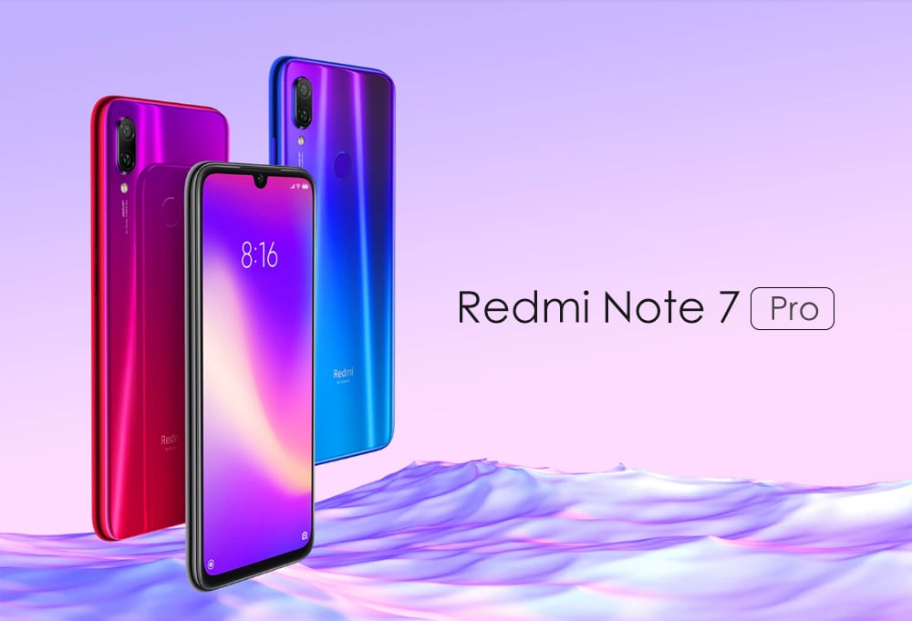 Xiaomi Redmi Note 7 Pro 4G Phablet 6.3 inch Android 9.0 Qualcomm 675 Octa Core 2.0GHz 6GB RAM 128GB ROM 48.0MP + 5.0MP Rear Camera Fingerprint Sensor 3900mAh Built-in- Blue