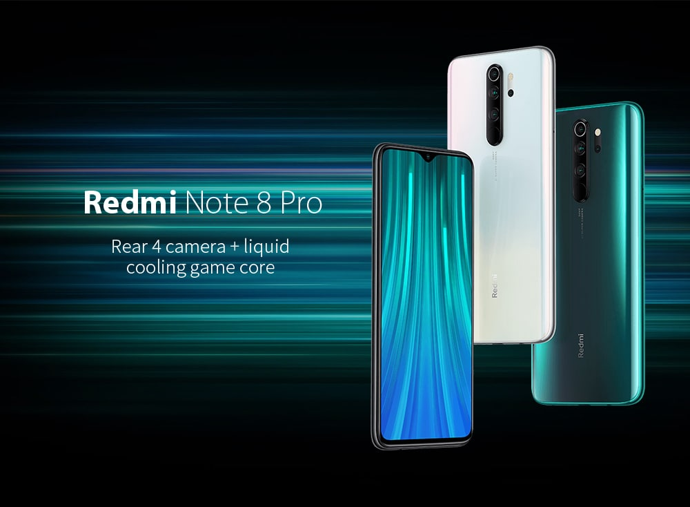 Xiaomi Redmi Note 8 Pro 4G Phablet 6.53 inch MIUI 10 Helio G90T Octa Core 2.05GHz + 2.0GHz 8GB RAM 128GB ROM 64.0MP + 8.0MP + 2.0MP + 2.0MP Rear Camera 4500mAh Battery- Gray