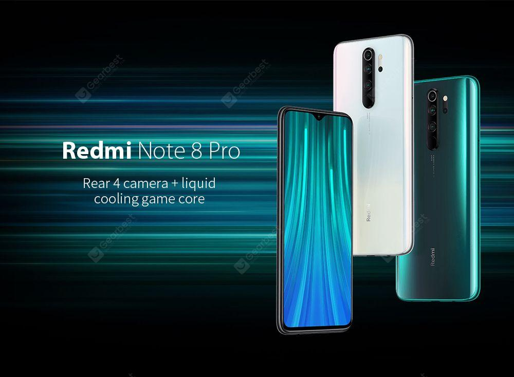 Xiaomi Redmi Note 8 Pro Smartphone Global Version 6+128GB Mineral Grey EU- Gray 6+128GB
