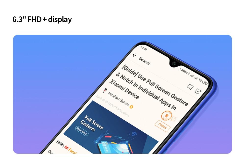 Xiaomi Redmi Note 8T 4G Phablet 4GB RAM 128GB ROM - Blue