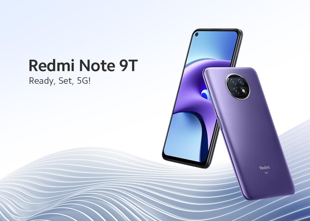 Xiaomi Redmi Note 9T 5G Smartphone Media Tek Dimensity 800U Octa Core 6.53 hüvelykes hátsó kamerák 48MP + 2MP + 2MP akkumulátor 5000mAh globális verzió - fekete 4 + 64GB Redmi Note 9T