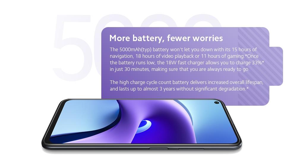 Xiaomi Redmi Note 9T 5G okostelefon média Tek Dimensity 800U Octa Core 6,53 hüvelykes hátsó kamerák 48MP + 2MP + 2MP akkumulátor 5000mAh globális verzió - fekete 4 + 64GB Több akkumulátor, kevesebb gond