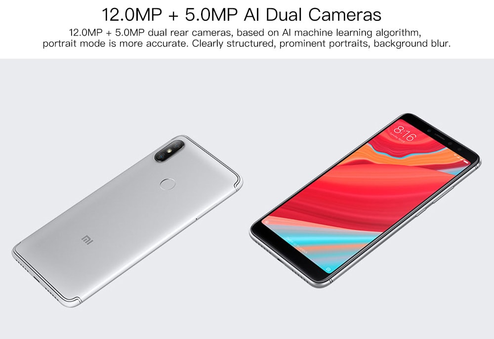 Xiaomi Redmi S2 4G Phablet 5.99 inch MIUI 9 Snapdragon 625 Octa Core 2.0GHz 4GB RAM 64GB ROM 12.0MP + 5.0MP Rear Camera Fingerprint Recognition 3030mAh Built-in- Gold