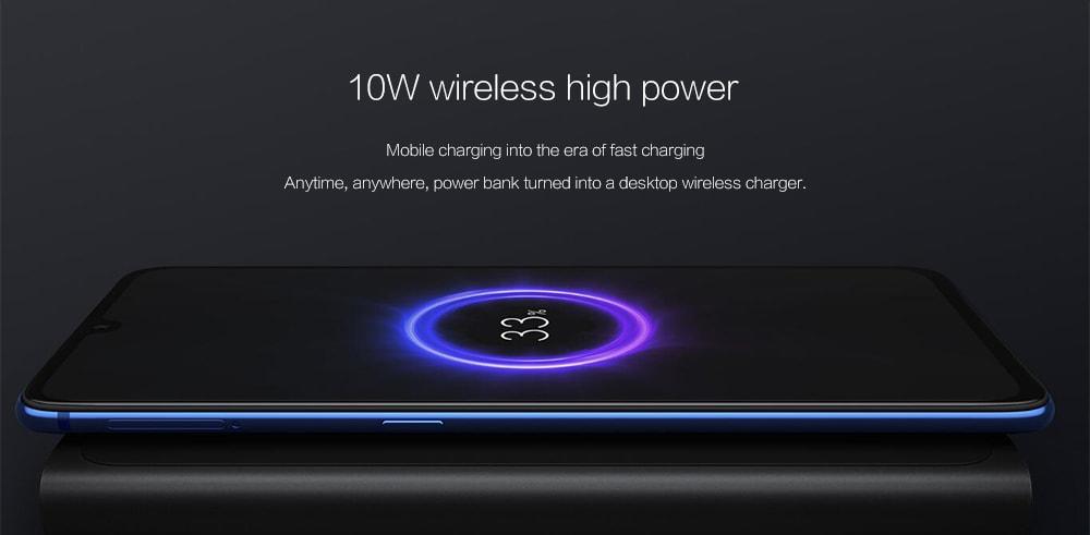 Xiaomi Wireless Power Bank 10000mAh napi használatra - fekete